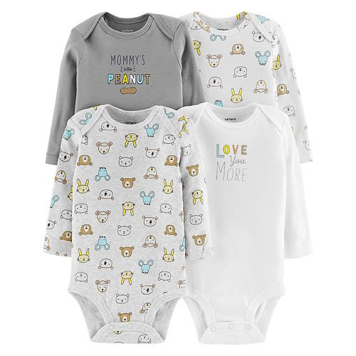Baby Carter's 4-pack Graphic Bodysuits