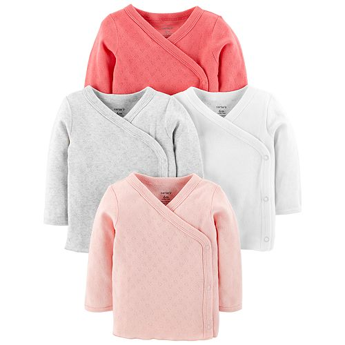 Baby Girl Carter's 4-pack Side Snap Tees