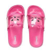 Girls 4-16 Kitty Cat Slide Sandals