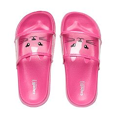Girls 4-16 Kitty Cat Slide Sandals