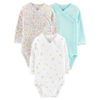 Baby Girl Carter's 3-Pack Side-Snap Bodysuits