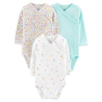 Baby Girl Carter's 3-Pack Side-Snap Bodysuits