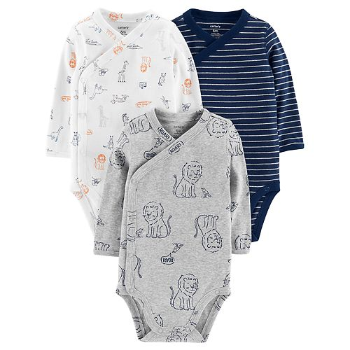 Baby Boy Carter's 3-Pack Side-Snap Bodysuits
