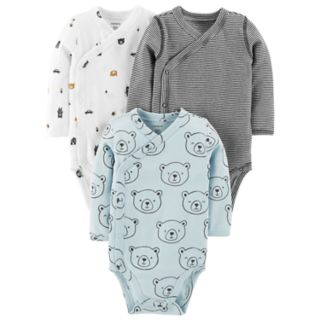 Baby Boy Carter's 3-Pack Print Side-Snap Bodysuits