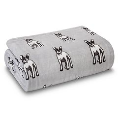 Grand Collection Velvet Plush Fleece Printed Throw