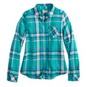 Girls 7-16 & Plus Size SO® Plaid Button-Down Shirt