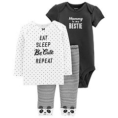 Baby Girl Carter's 3-piece. Graphic Bodysuit, Tee & Pants Set