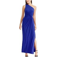 Women's Chaps One-Shoulder Gathered Evening Gown