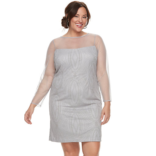 Womens Plus Mother of the Bride Long Sleeve Dresses ...