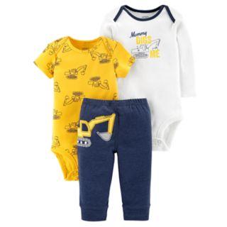 Baby Boy Carter's 3-piece. Construction Bodysuit & Pants Set