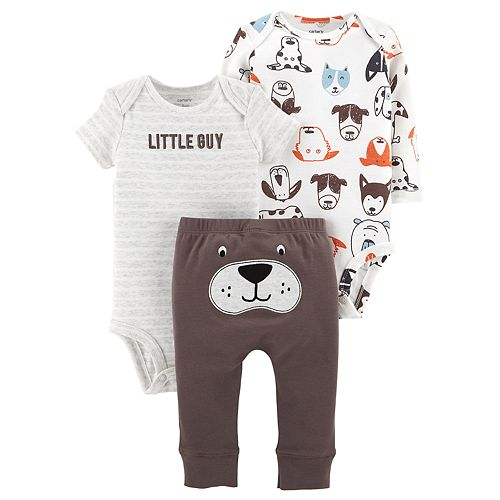 Baby Boy Carter's 3-piece. Dog Bodysuit & Pants Set