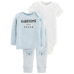 Baby Boy Carter's 3-piece. 'Handsome Little Fella' Bodysuit, Tee & Pants Set