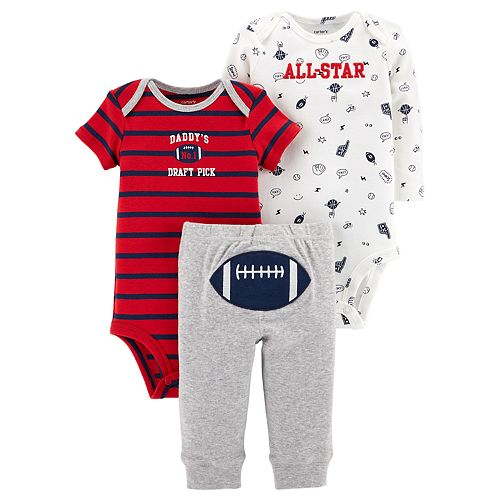 "Baby Boy Carter's 3-piece. ""All Star"" Bodysuit & Pants Set"