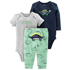 Baby Boy Carter's 3-piece. Dinosaur Bodysuit & Pants Set