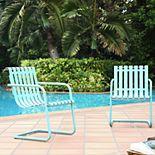 Crosley Furniture Gracie Steel Patio Chair 2-piece Set