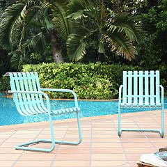 Crosley Furniture Gracie Steel Patio Chair 2-piece Set