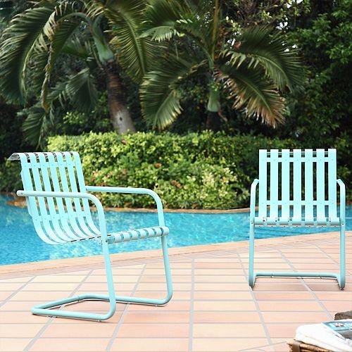 Crosley Furniture Gracie Steel Patio Chair 2 Piece Set