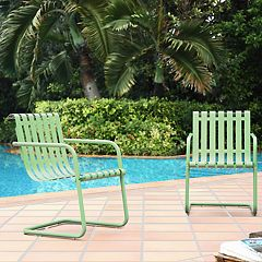 Crosley Furniture Gracie Steel Patio Chair 2 pc Set