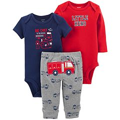 Baby Boy Carter's 3-piece. 'Little Hero' Bodysuit & Pants Set