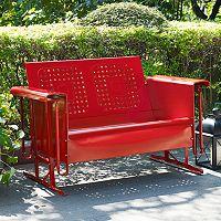 Crosley Furniture Bates Patio Glider Sofa