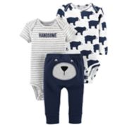 Baby Boy Carter's 3-piece. Bear Bodysuit & Pants Set