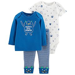 Baby Boy Carter's 3-piece. Monster Bodysuit, Tee & Pants Set