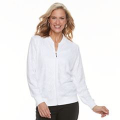 Women's Napa Valley Open-Lace Bomber Jacket