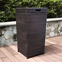 Crosley Furniture Palm Harbor Patio Wicker Trash Can