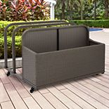 Crosley Furniture Palm Harbor Patio Wicker Float Caddy Storage Bin