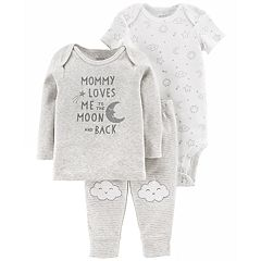 Baby Carter's 3-piece. Moon Bodysuit, Tee & Pants Set