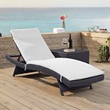 Crosley Furniture Biscayne Patio Chaise Lounge Chair