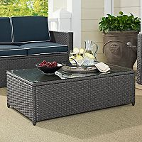 Crosley Furniture Palm Harbor Patio Wicker Coffee Table