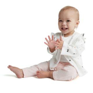 "Baby Girl Carter's ""Love You"" Bodysuit, Print Cardigan & Pants Set"