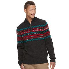 Men's Urban Pipeline™ Geo-Pattern Quart-Zip Sweater