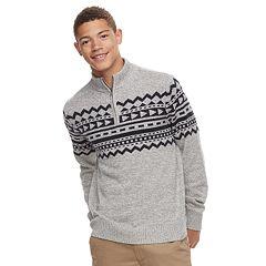 Men's Urban Pipeline™ Geo-Pattern Quart-Zip Sweater