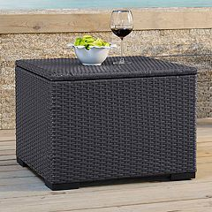 Crosley Furniture Biscayne Patio Wicker Coffee Table