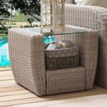 Crosley Furniture St. Augustine Patio Wicker End Table