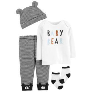 "Baby Boy Carter's ""Baby Bear"" Tee, Striped Pants, Hat & Socks Set"