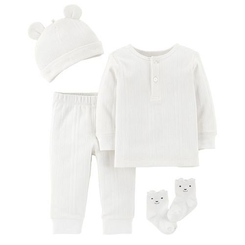 Baby Carter's 4-piece Ribbed Set