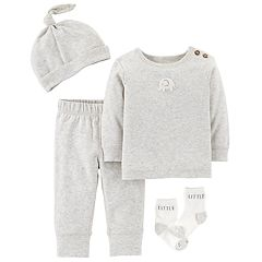 Baby Carter's Elephant Top, Pants, Hat & Socks Set