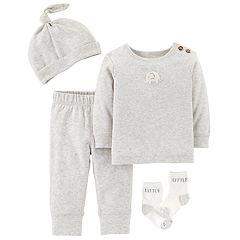 Baby Carter's Elephant Top, Pants, Hat & Socks Set