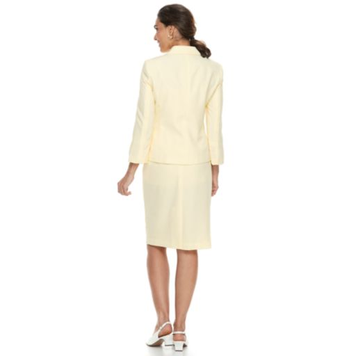Women's Le Suit Seersucker Jacket & Skirt Suit