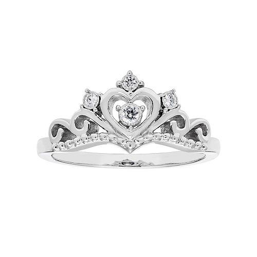 Sterling Silver Diamond Accent Tiara Ring