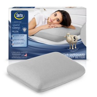 Serta Sound Sleep Anti-Microbial Gel Memory Foam Pillow