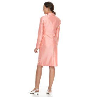 Women's Le Suit Ruffle Sateen Jacket & Skirt Suit