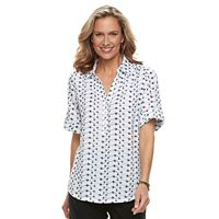 Women's Cathy Daniels Print Roll-Tab Shirt