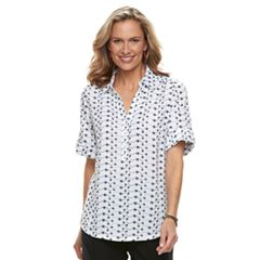 Women's Cathy Daniels Print Roll-Tab Shirt
