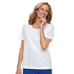 Women's Cathy Daniels Lace Scoopneck Top
