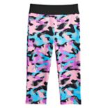 Girls 4-14 Jacques Moret Shiny Camo Capri Dance Pants