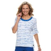 Women's Cathy Daniels Striped Side-Tie Top